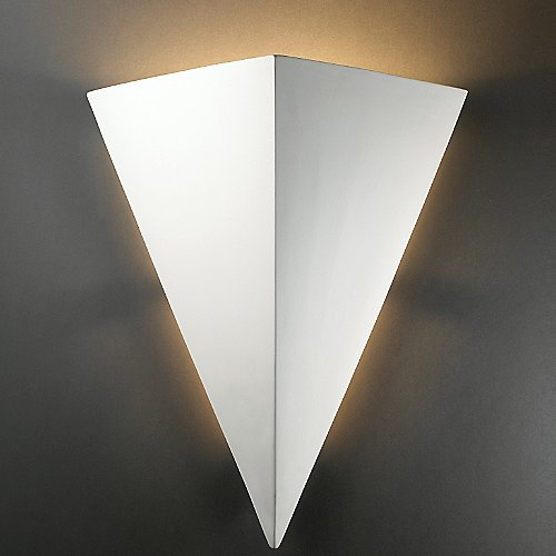 Really big triangle outdoor wall sconce by justice design group at lumens com