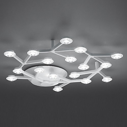 Led net circle ceiling light by artemide at lumens mozeypictures Gallery