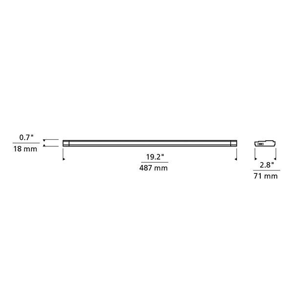 Unilume LED Slimline 19-Inch Undercabinet Light