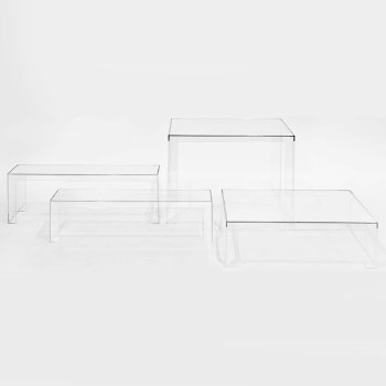 Invisible Table with Invisible Coffee Table and Invisible Side Table
