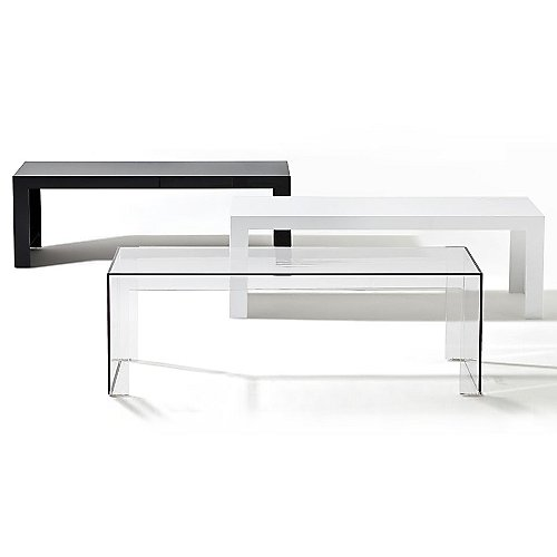Invisible Side Table By Kartell At Lumenscom - Invisible coffee table