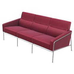 Series 3300 3-Seat Leather Sofa