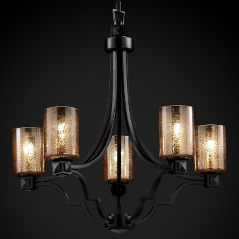 Fusion Mercury Glass Argyle Chandelier