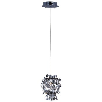 Shown in Polished Chrome finish, Beveled Crystal shade