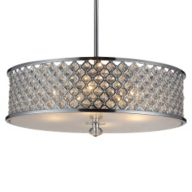 Chrome Drum Pendant Lighting
