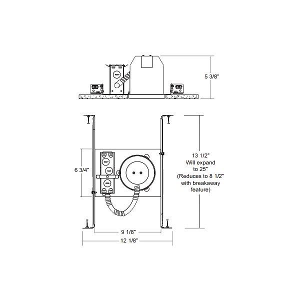 4-Inch Line Voltage Non-IC Housing