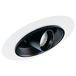 "6"" Super Slope Baffle Trim with Cylinder Spotlight"