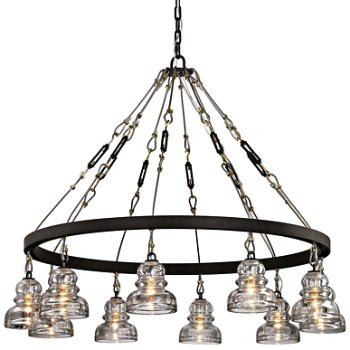 Shown in Deep Bronze finish, 10 Light
