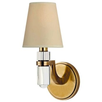 Shown in Cream paper shade, Aged Brass finish