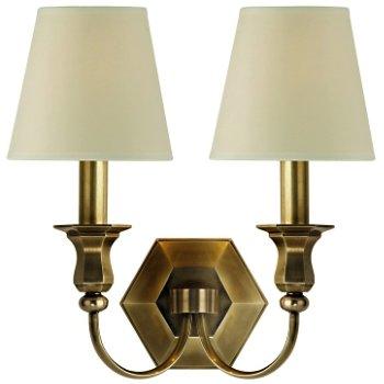 Shown in Cream shade, Aged Brass finish