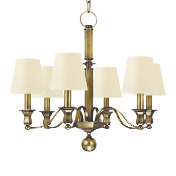 Shown in White shade, Aged Brass finish