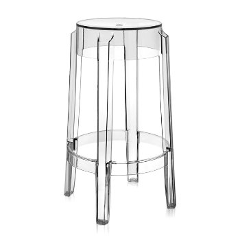 Charles Ghost Stool (Crystal/Counter Height) - OPEN BOX