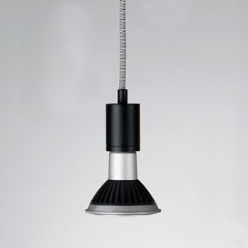 Shown in Black and White cord, Black finish