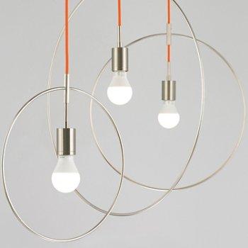 Shown in Orange cord, Satin Nickel finish, Detail view