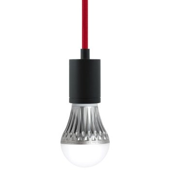 Shown in Red cord, Black finish