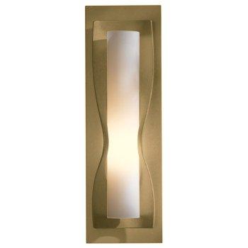 Shown in Opal glass shade, Gold finish