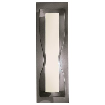 Shown in Pearl glass shade, Natural Iron finish