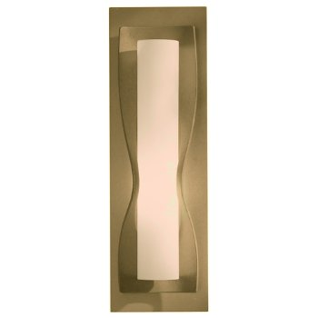 Shown in Stone glass shade, Gold finish