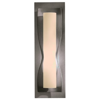 Shown in Stone glass shade, Natural Iron finish