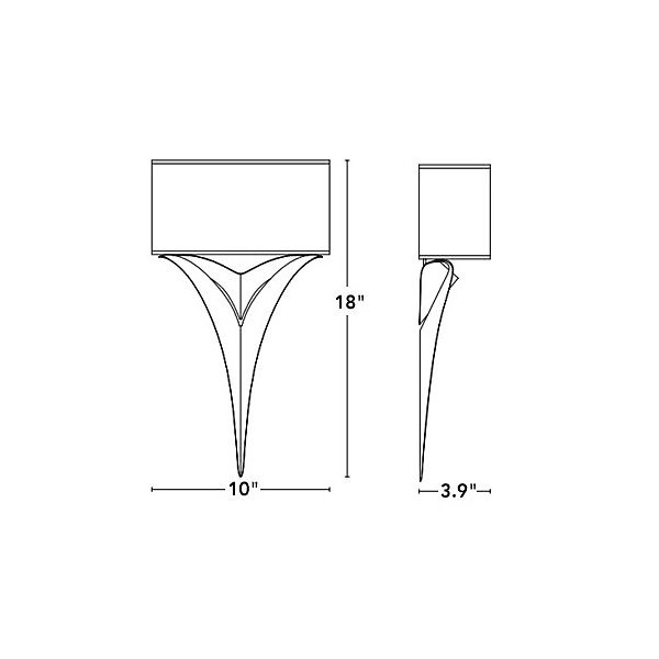 Calla Wall Sconce with Shade