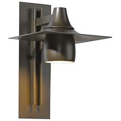 Hood Outdoor Tall Dark Sky Wall Sconce