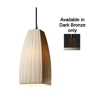 Limoges Tapered Square Pendant (Bronze) - OPEN BOX RETURN