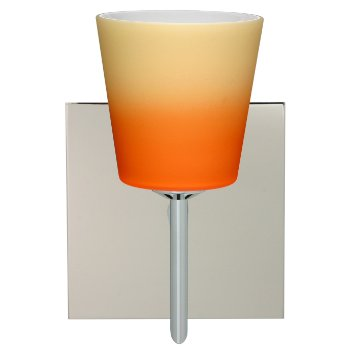 Canto 5 Wall Sconce (Orange and Pina/Satin Nickel) - OPEN BOX RETURN