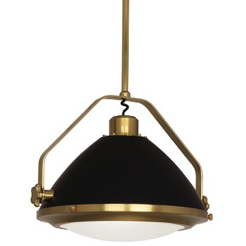Shown in Antique Brass with Matte Black, Small size