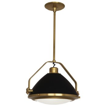 Shown in Antique Brass with Matte Black, Large size