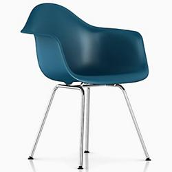 Eames Molded Plastic Armchair - 4 Leg Base