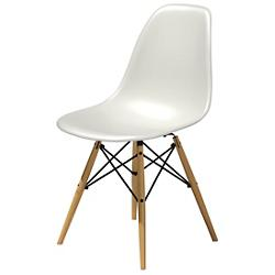 Eames Molded Plastic Side Chair - Wood Dowel Leg Base