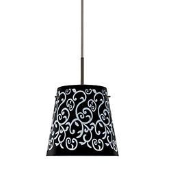 Amelia 6 Pendant (Black Damask/Bronze) - OPEN BOX RETURN