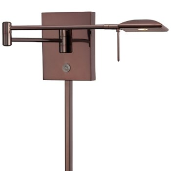 P4328 Swing Arm Wall Sconce (Chocolate Chrome) - OPEN BOX