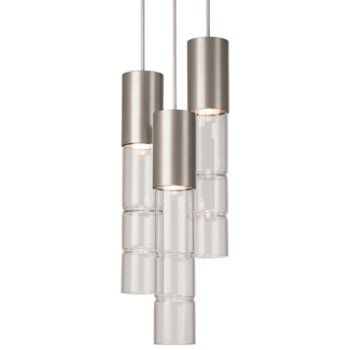 Bamboo Round Multi-Light Pendant