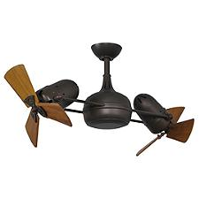 Dagny Dual Rotational Ceiling Fan - Body Finish: Textured Bronze - Blade Color: Metal Blades