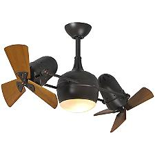 Dagny Dual Rotational Ceiling Fan with Light Kit - Body Finish: Textured Bronze - Blade Color: Metal Blades