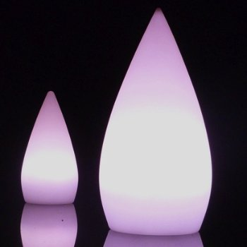 Droppia LED Teardrop collection, lit