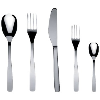 KnifeForkSpoon 5 pc. Cutlery Set