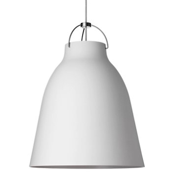 Shown in Matte White finish, Large