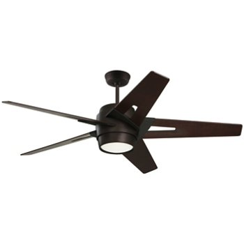Shown in Oil Rubbed Bronze finish with Dark Mahogany blades