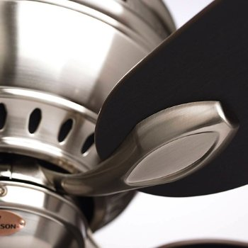 Shown with Brushed Steel finish and Chocolate blades