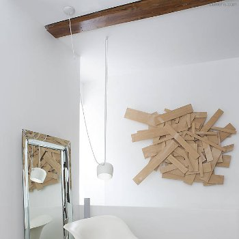 Shown lit in White finish, Hardwired installation