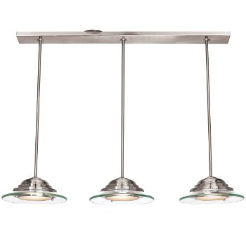 Phoebe 3-Light Pendant (Brushed Steel) - OPEN BOX RETURN