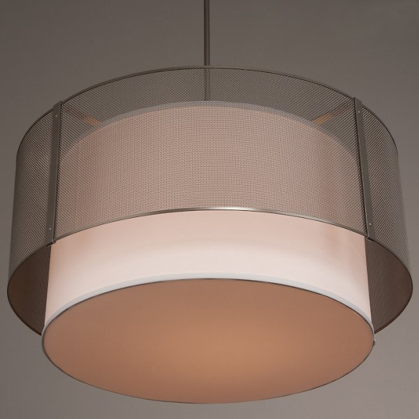 Uptown Mesh Drum Pendant with Shade