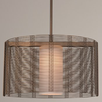 Shown in Frosted Glass, Flat Bronze finish, 19 inch