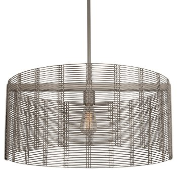 Shown in None, Exposed Lamping, Metallic Beige Silver finish, 24 inch