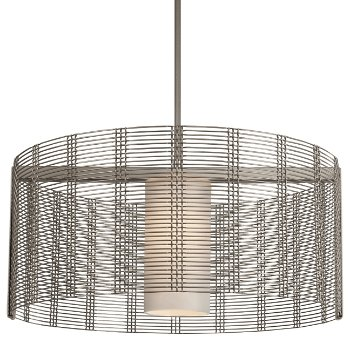 Shown in Frosted Glass, Metallic Beige Silver finish, 24 inch