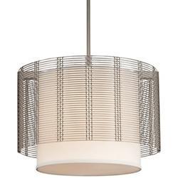 Downtown Mesh Drum Pendant with Shade
