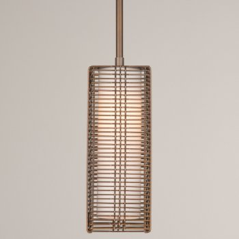 Shown in Frosted Glass shade, Flat Bronze finish