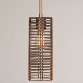 Shown in None, Exposed Lamping, Flat Bronze finish